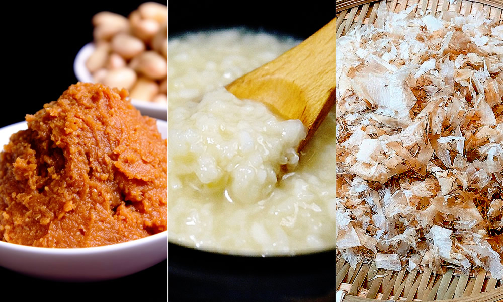 味噌、塩麹、鰹節が生み出す天然のうま味