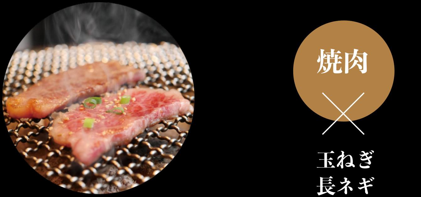 焼肉×玉ねぎ長ネギ