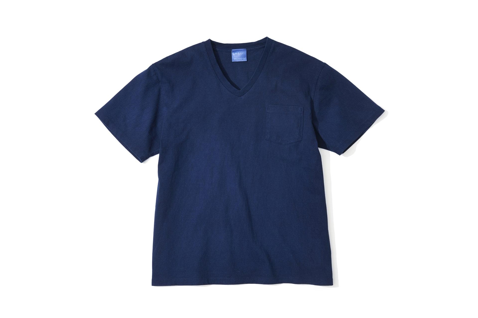 藍染ポケットTシャツ
