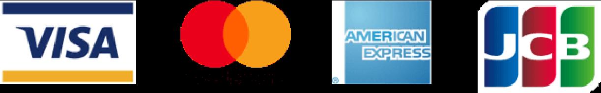 クレジットカード会社のロゴ(VISA mastercard AMERICANEXPRESS JCB)