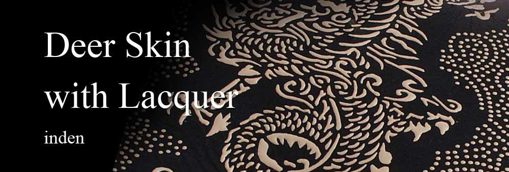 Designer Purse Purses Inden Urushi Deer Skin Japanese