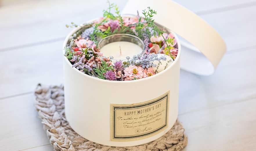 Flower&Candle BOXセット (アートフラワー&アロマキャンドル)