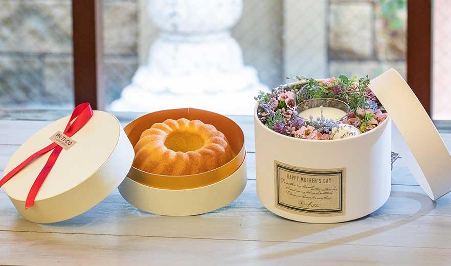 Flower&Candle BOXセット (アートフラワー&アロマキャンドル)+パンドジェンヌ ギフトセット