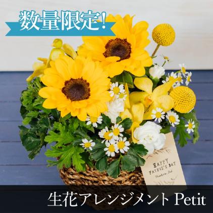 【父の日限定】生花アレンジメントPetit